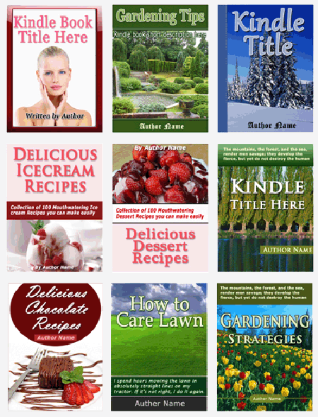 Kindle Cover Templates in PSD Full Customize