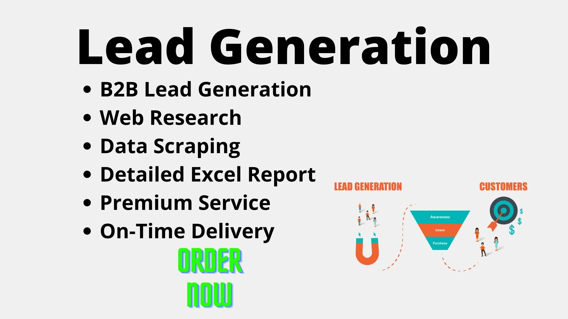 I will provide you B2B lead generation for your business