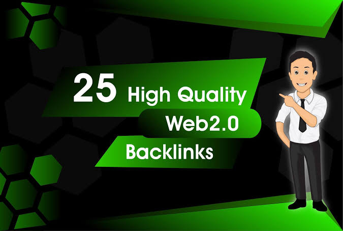Booster Rank with 25 Web2.0 Backlinks On 100-80 PA DA Sites Manually Service