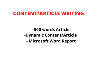 I will write dynamic article for your website or blog