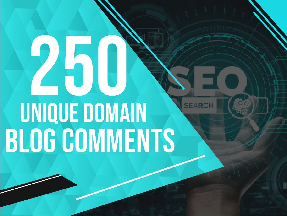 Create 250 Unique Domains Blog Comment Backlinks