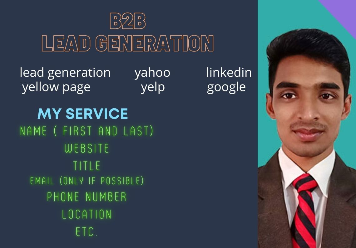 I do b2b lead generation and verified emails list for your business