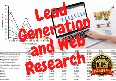 I will do Perfect lead generation and web research for your business