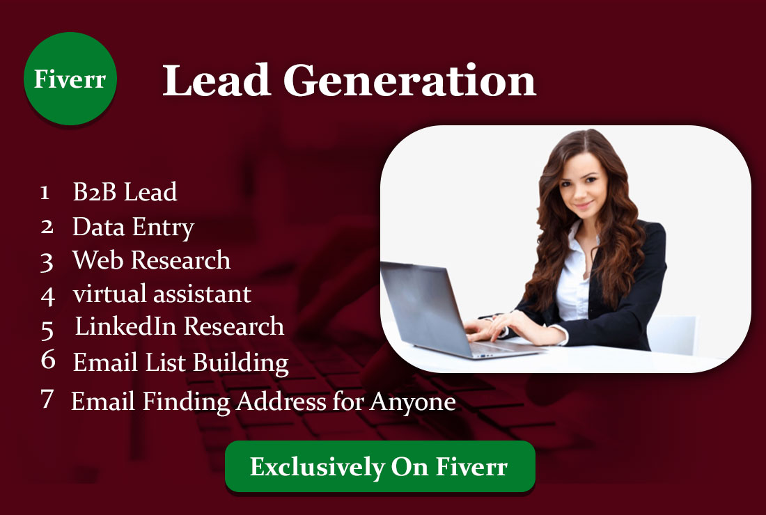 I will do b2b lead generation Data Entry and web research