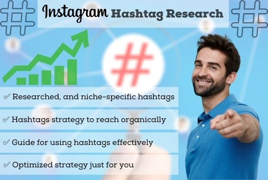 I will do the best Instagram hashtag research with strategy