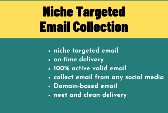 I will collect 5k Niche targeted email list