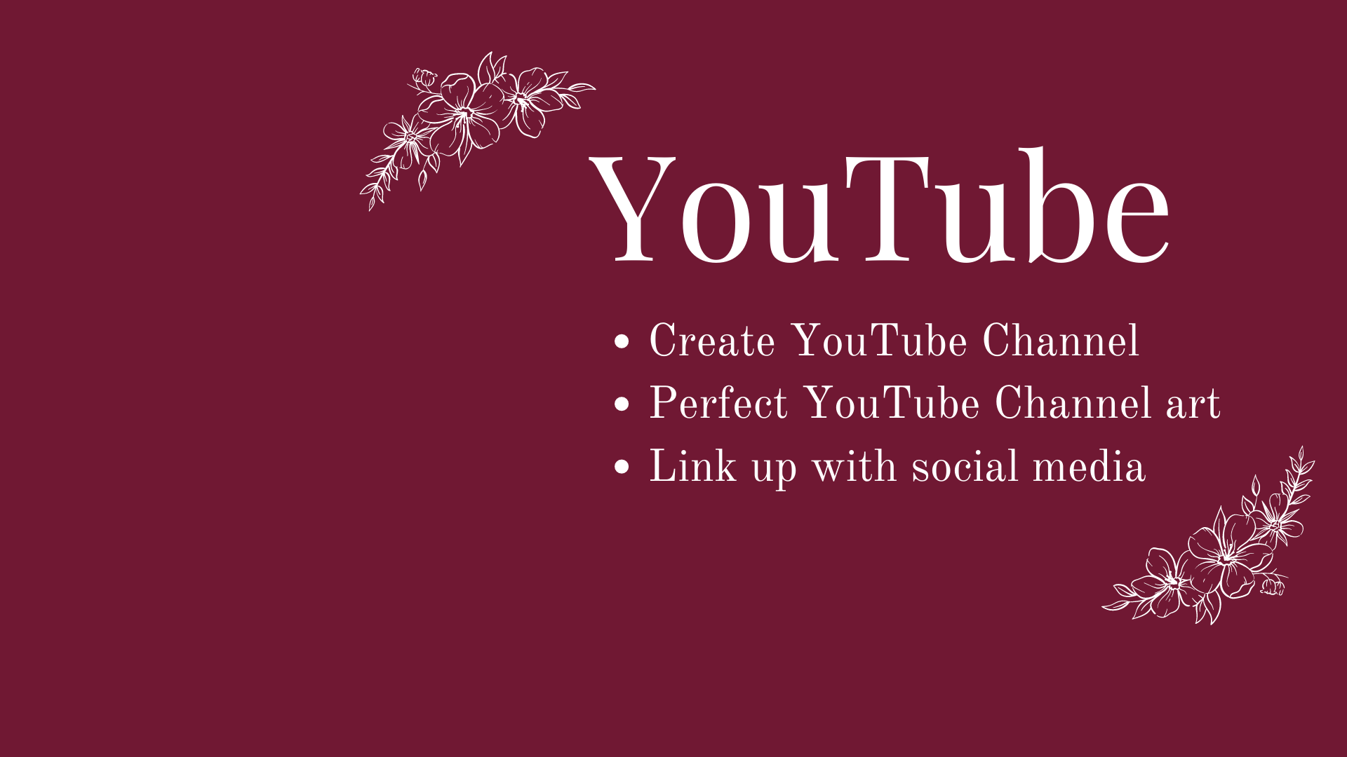 Create YouTube chanel with an appropriate size banner image