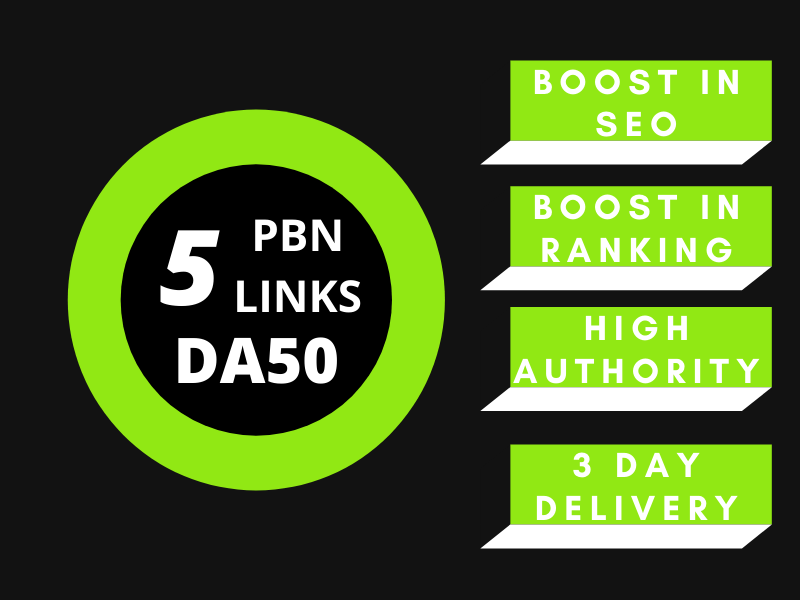 Build 5PBNs DA50 high authority Dofollow backlinks