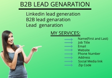 I will do your virtual assistant for b2b lead generation,  data entry,  web research