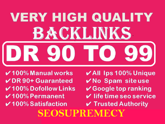 Improve 100+ High Quality Authority Dofollow Backlinks Link Building For Off Page SEO Service