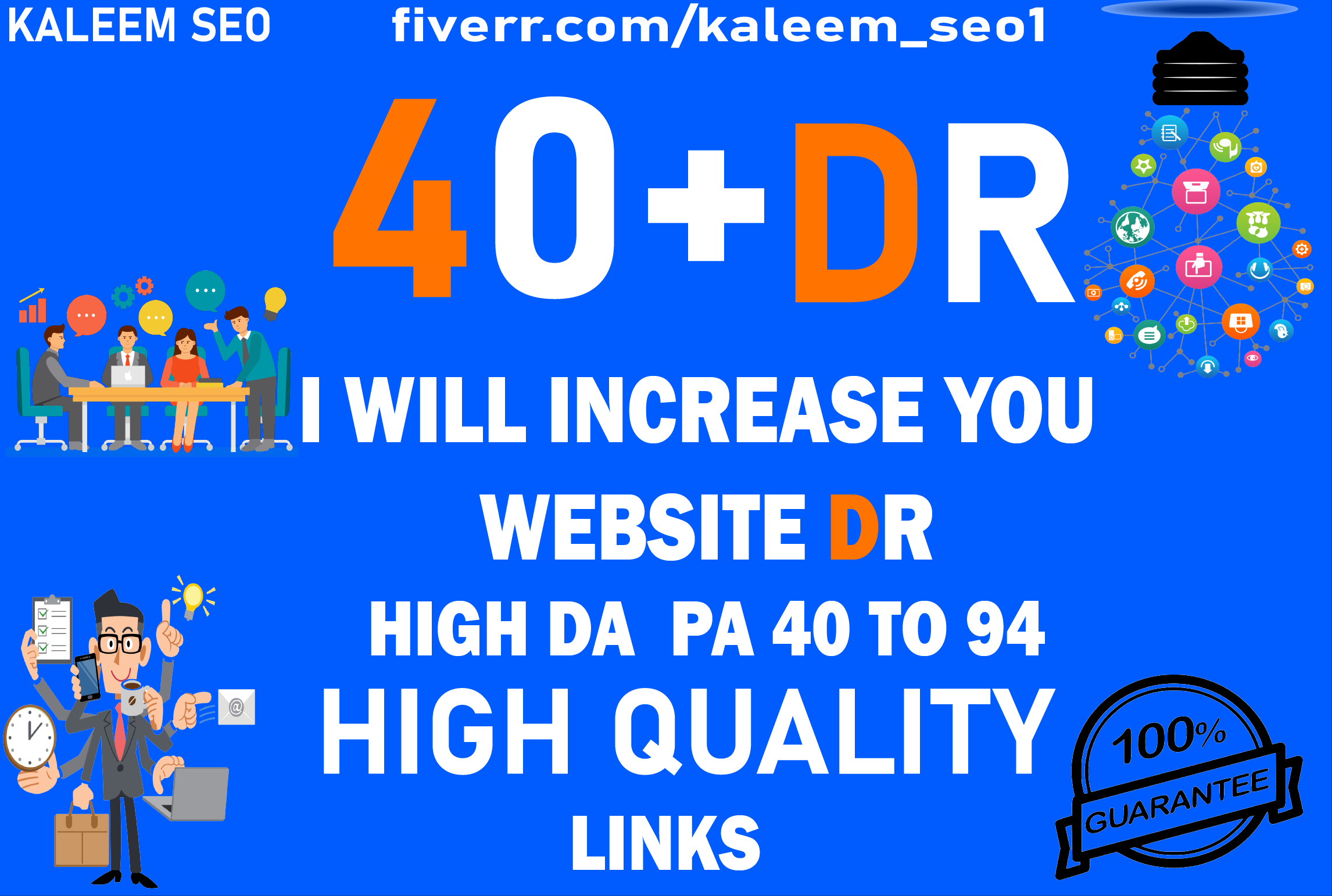 I will increase ahrefs DR domain rating to 40+