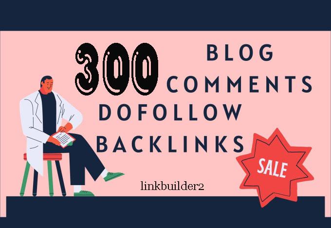 Create 300 blog comments backlinks