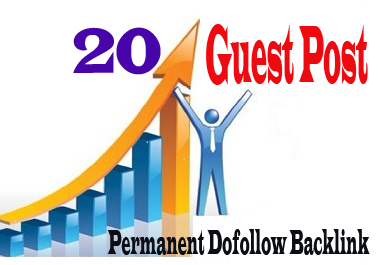 Get 20 HQ dofollow Guest Post Seo backlink