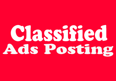 I Will Do 50 Manual Classified Ads Posting On Top Ad Websites