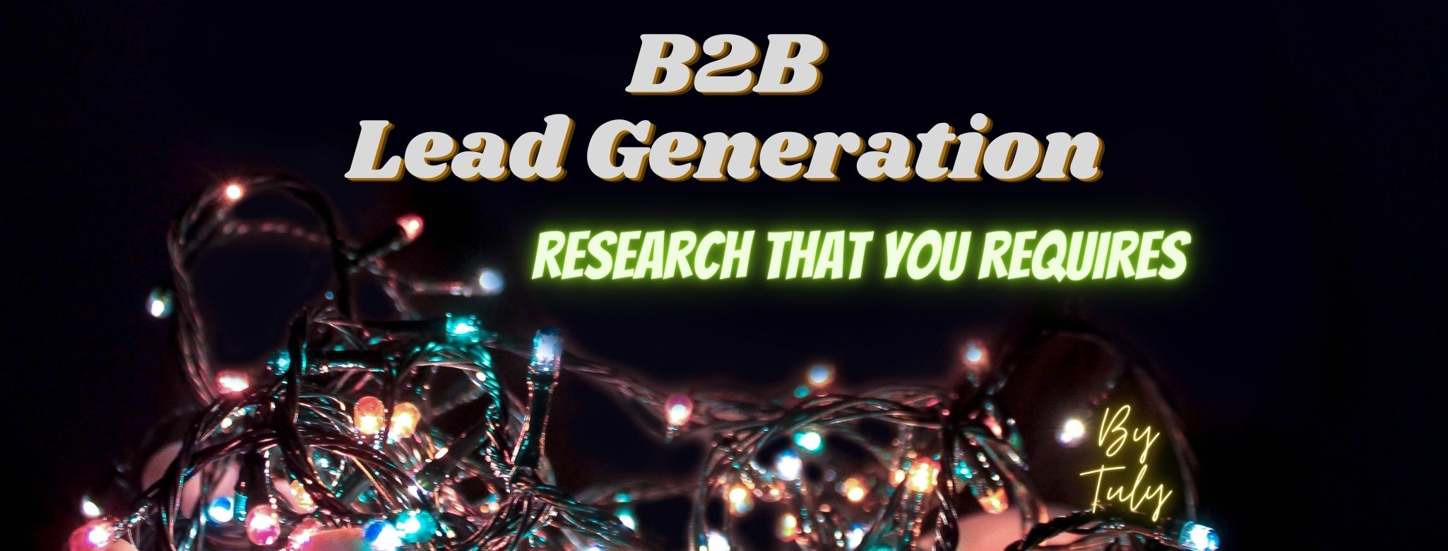 I will do any lead generation and b2b targeted lead generation