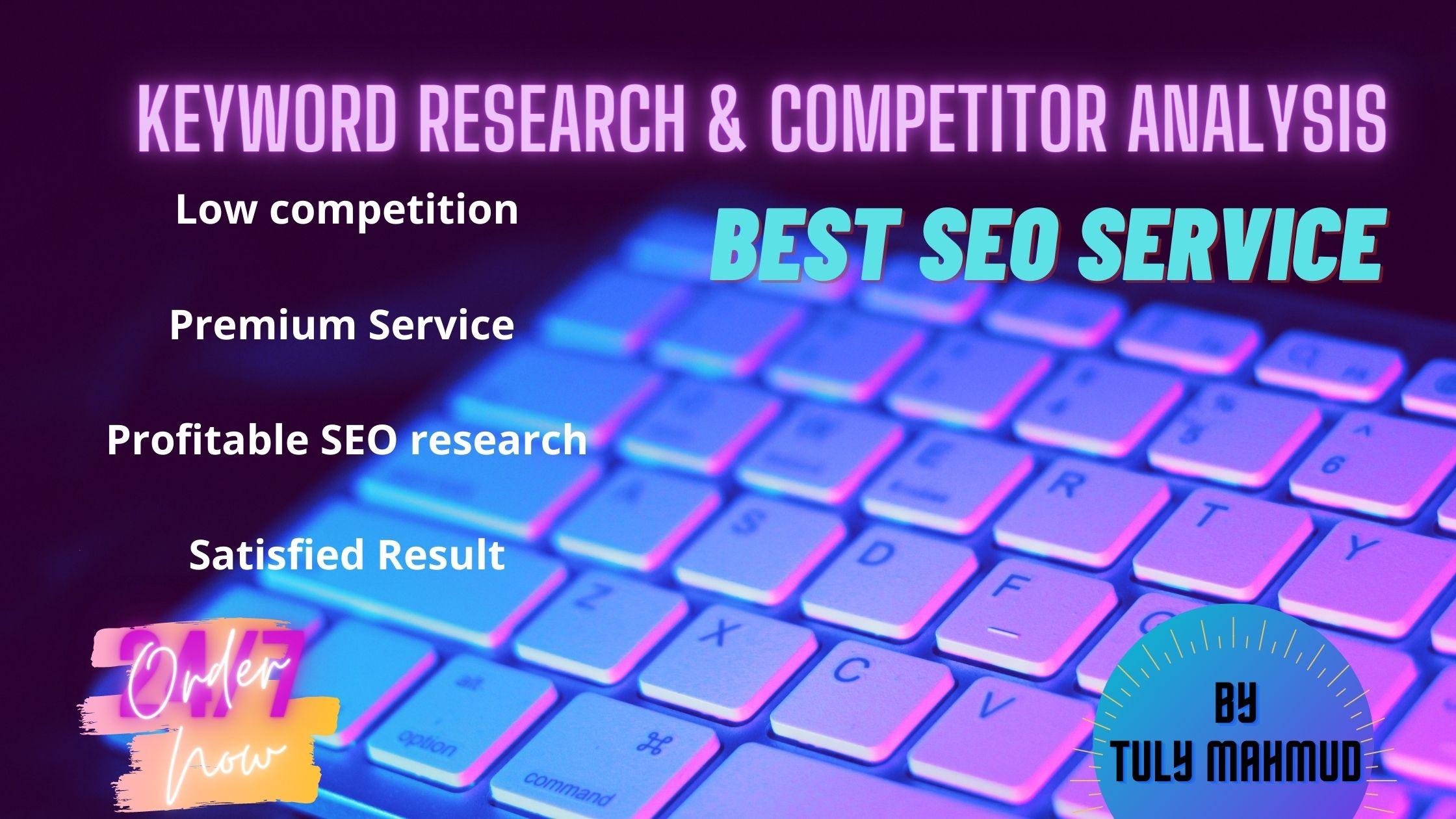 SEO & Keyword research & compititator analysis