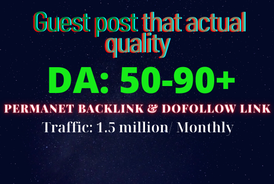 SEO Backlinks,  High DA Guest Posts Quality Service