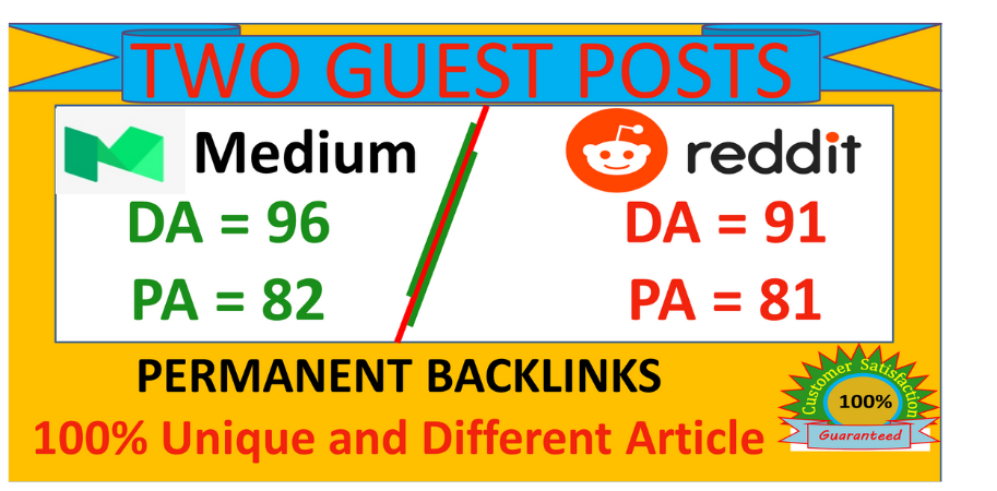 I will write Publish Guest Posts on Reddit and Medium,  Boost Your Website