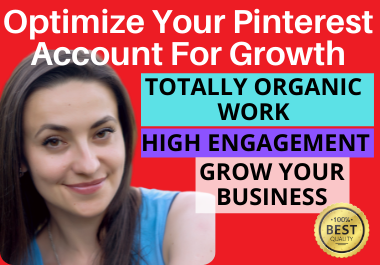 I will do optimize 150 pins,  10 boards and be a Pinterest marketing manager to promote your business