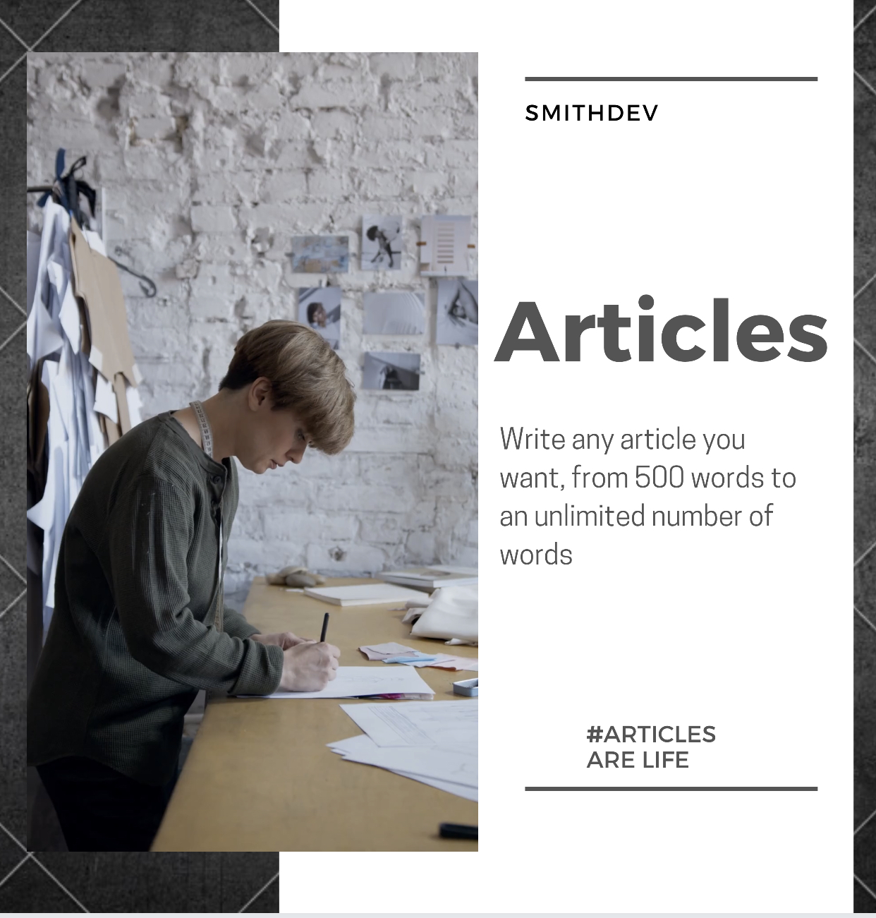 We write any article of 1000 words professionally,  one day delivery