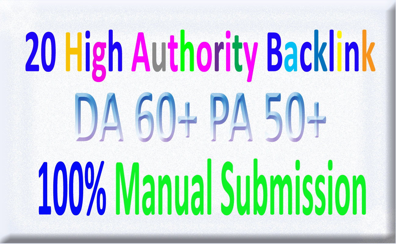 20 High Authority Permanent & Dofollow Homepage SEO Backlink With Unique Website