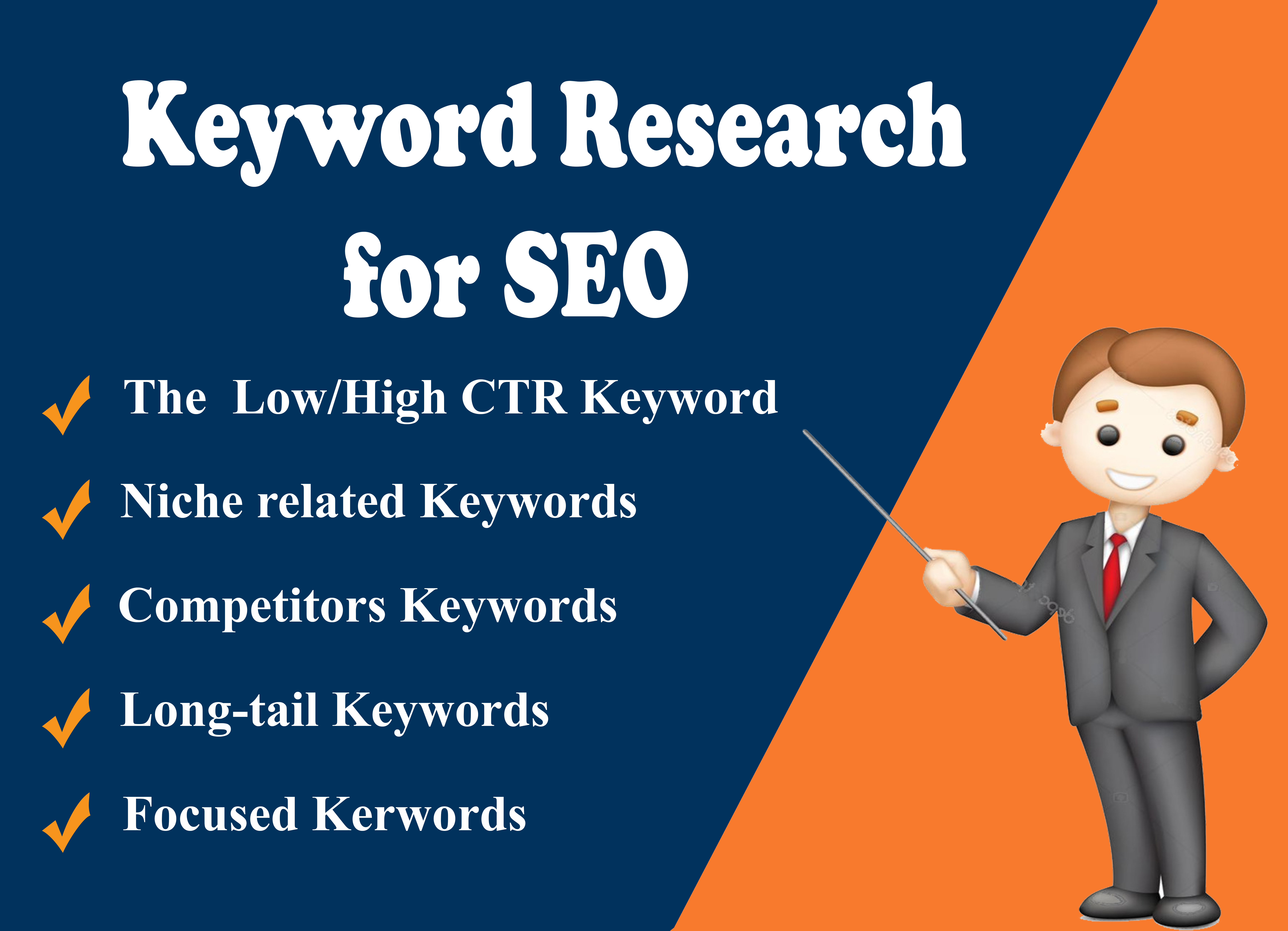 Keyword research for seo and competitors analysis