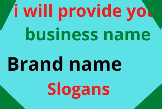 i will provide you brand name for your business