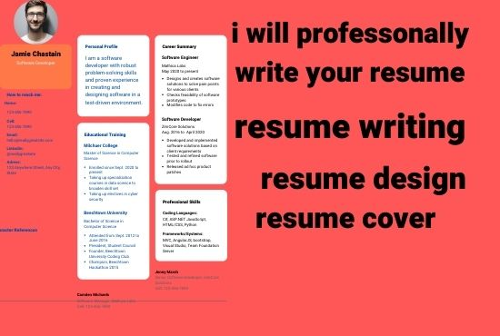 i will write your resume job application in short time