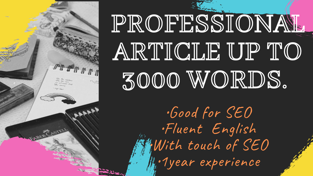 I will write incredible content writer, SEO writer and article writer for your website or blogposts.