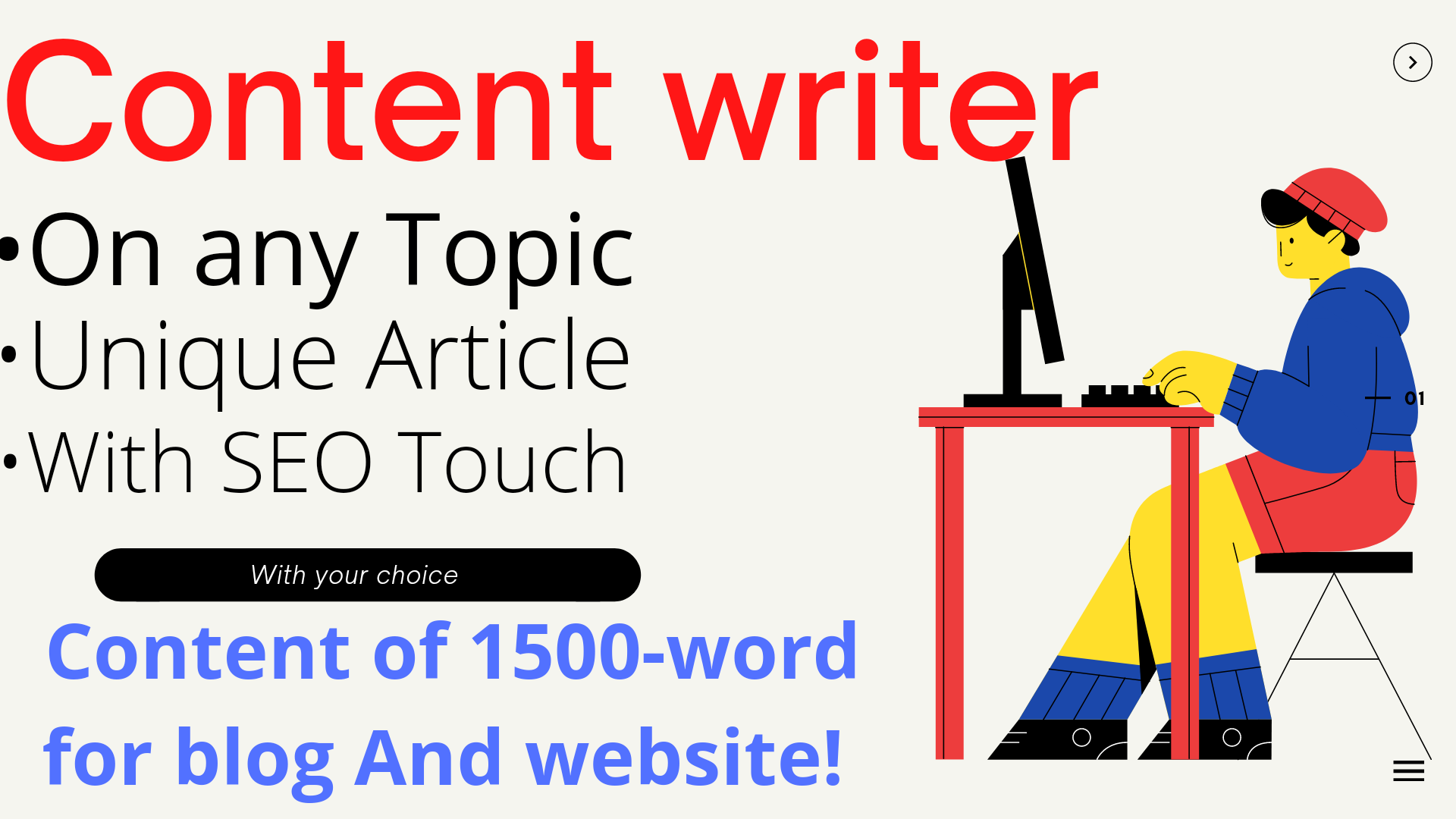 A 1500 words search engine optimization article writer,  blog writer,  & content writer for 2 in 24h