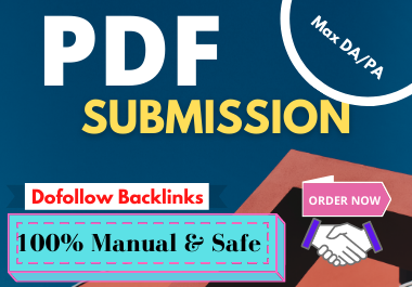 I Will Do 35 PDF Submission Dofollow Backlinks With Max DA/PA.