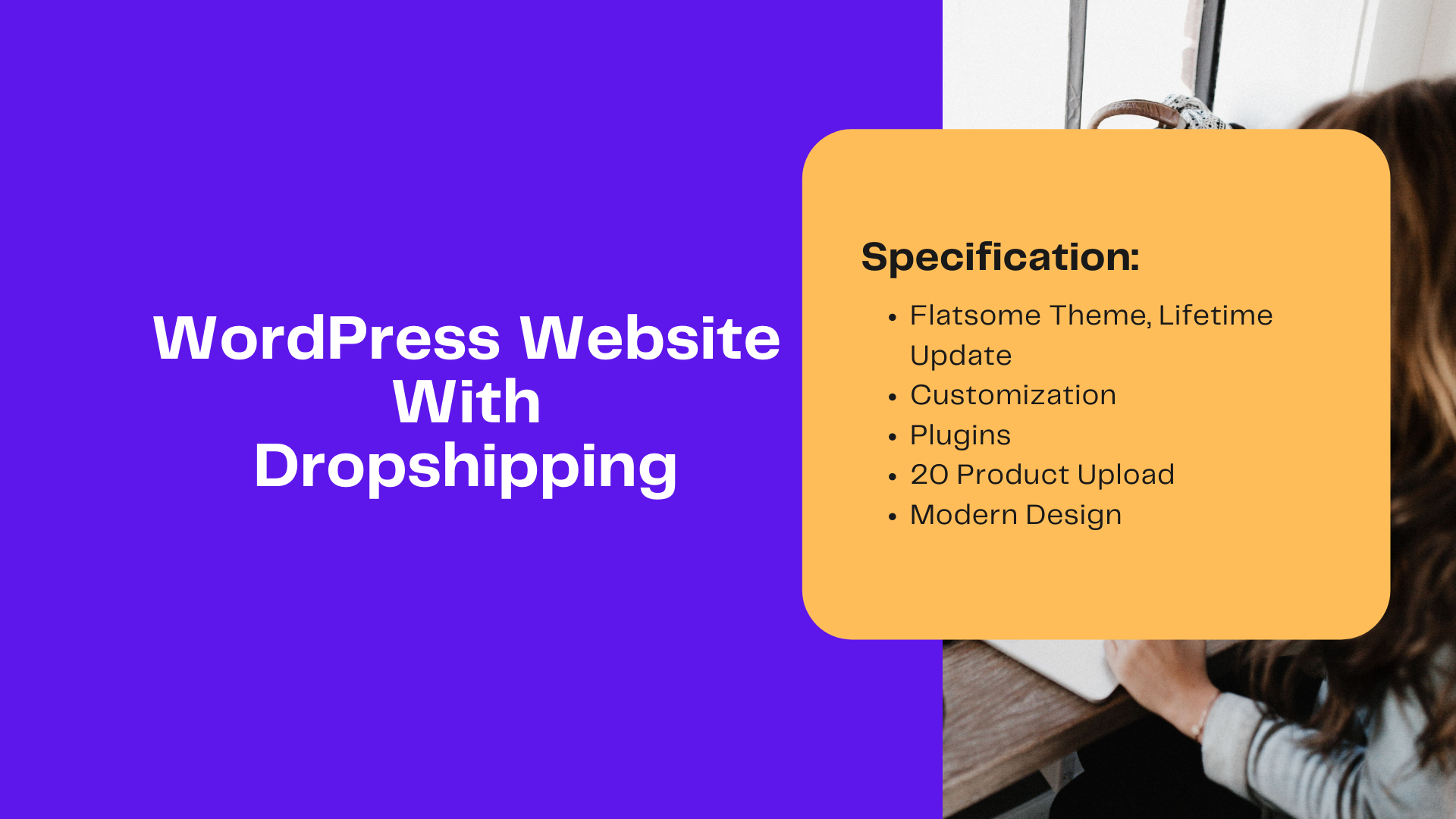 You will get Dropshipping wordpress Website