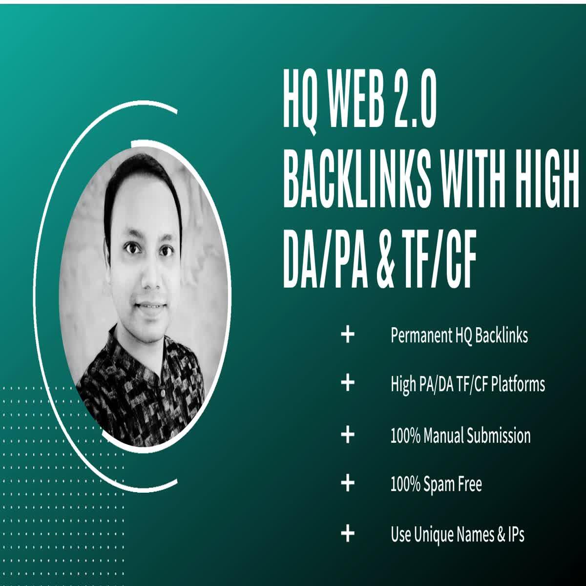 30 HQ Web 2.0 Backlinks with High DA/PA & TF/CF