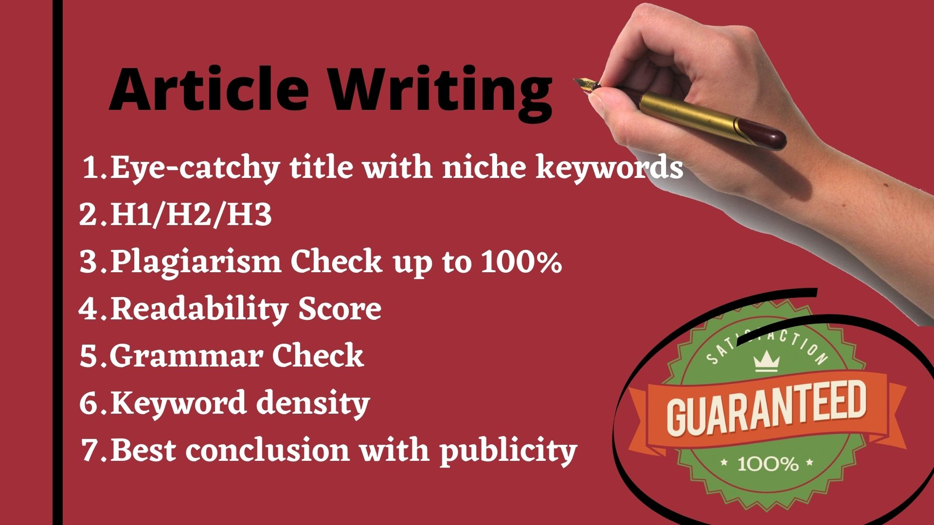 Article Writing with Niche keyword