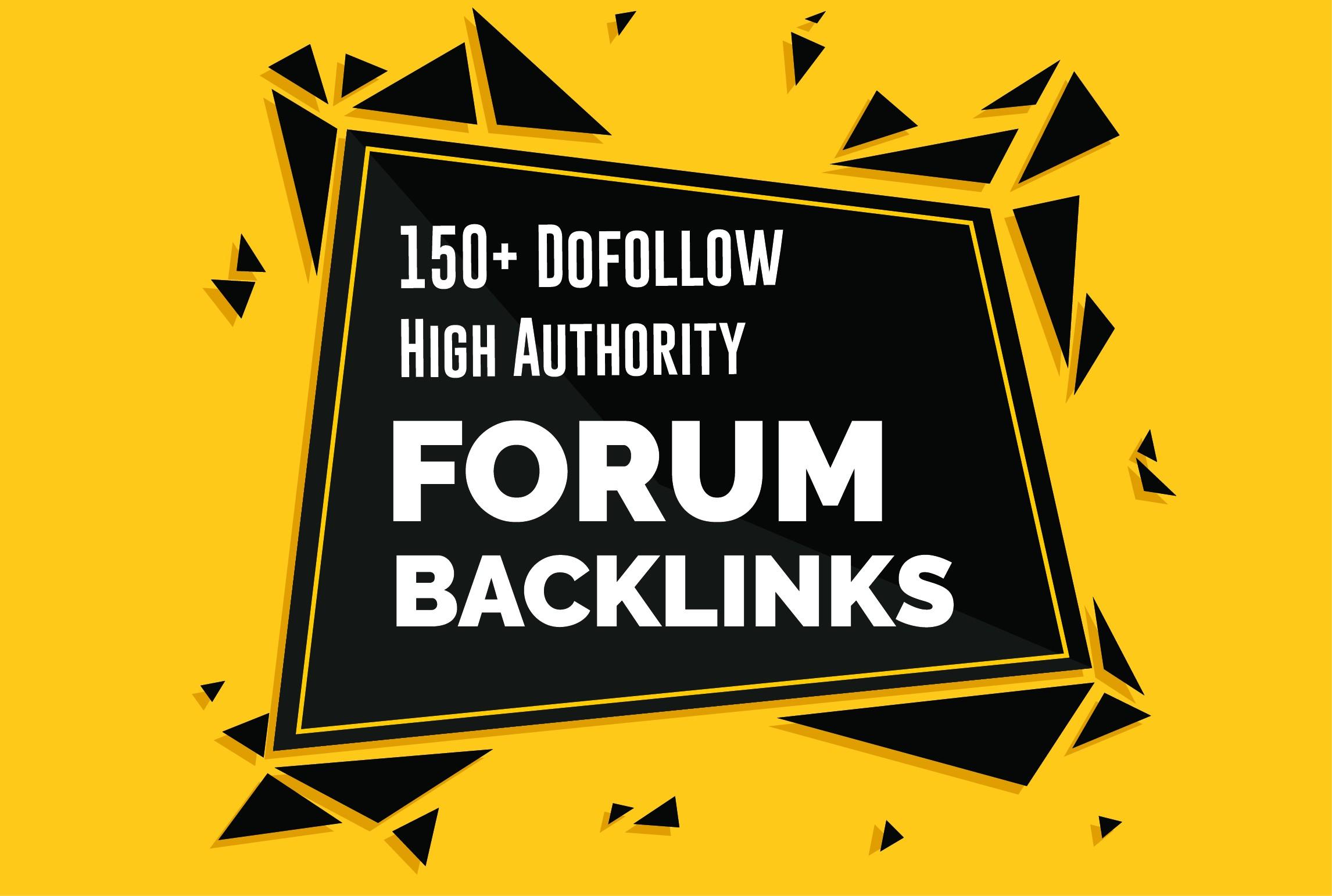 Create 150+ forum profile backlink High Authority SEO Backlinks Service
