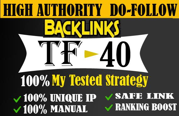 I will give high tf cf permanent dofollow backlinks for SEO