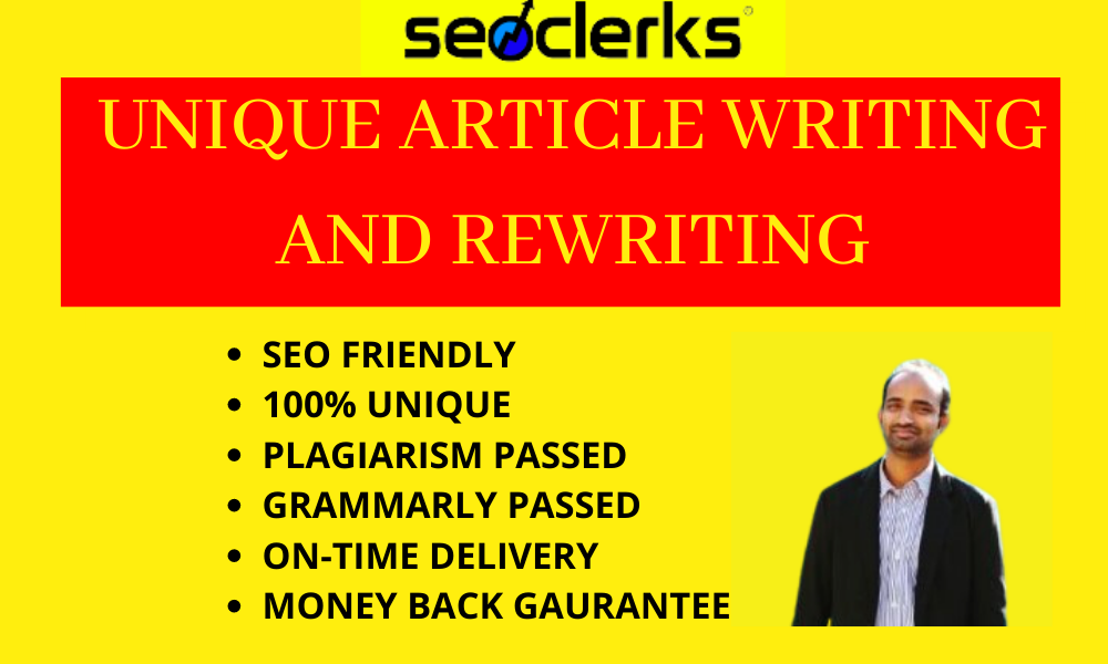 Manually Write or Rewrite SEO Friendly Article