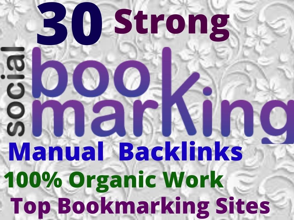 I will do 30 social bookmarking on high da backlinks