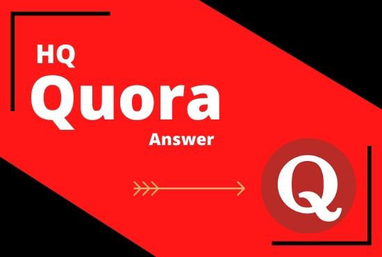 I will Create 3 High Quality Quora answers on your Niche relevant Questions