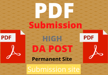 20 PDF Submission High authority low spam score website backlinks permanent link building