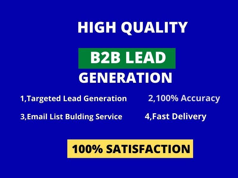 I Will Do b2b lead generation and LinkedIn leads