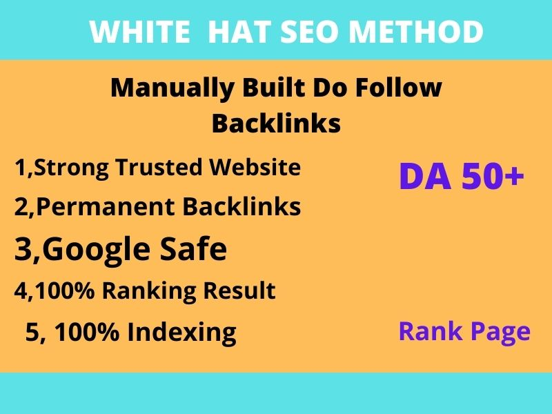 I will create high quality white hat SEO do follow backlinks