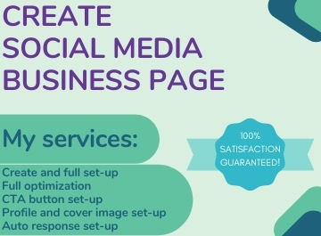 I will set up and optimize your professional social media business page.