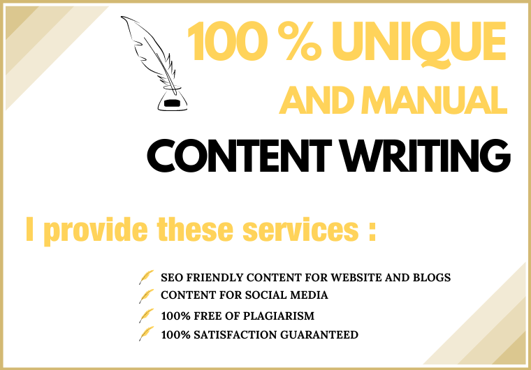 I will write professional 1200 words of SEO friendly content for your website and blog.