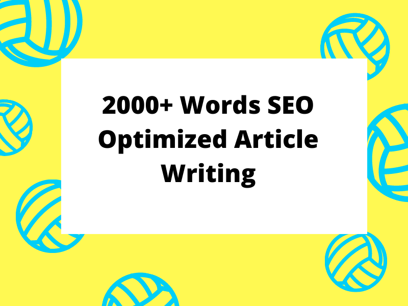 2000 words effective SEO article writing