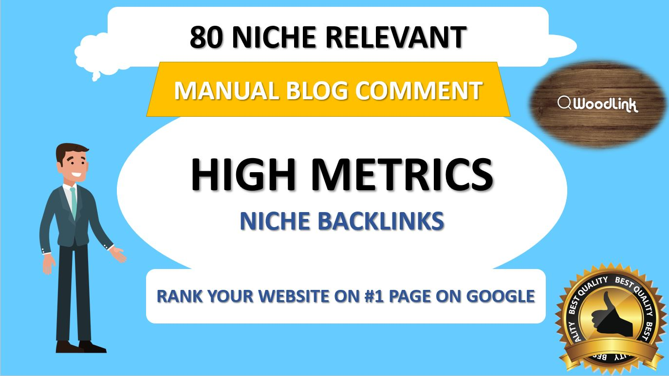 I will do 80 niche relevant manual blog comment backlinks