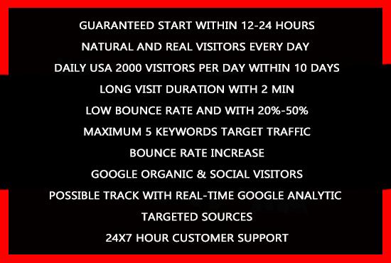 Adsense safe real organic USA and top UK web traffic for 30 days