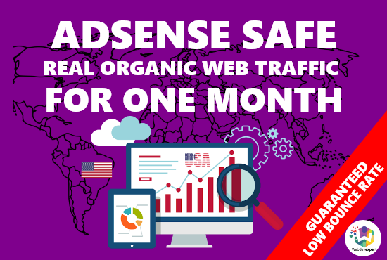 Adsense safe real organic USA and top UK web traffic for 30 days