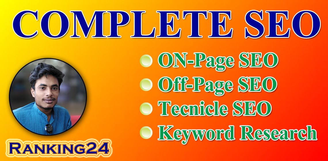 I will do best full SEO service for your website google top ranking