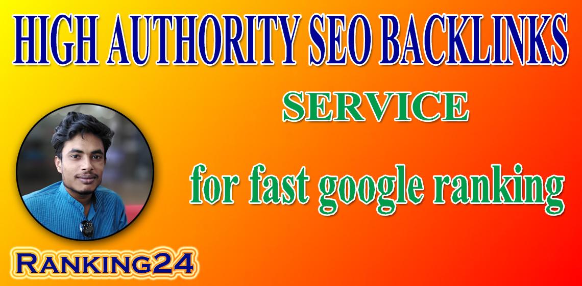 I will provide authority backlinks service for google ranking